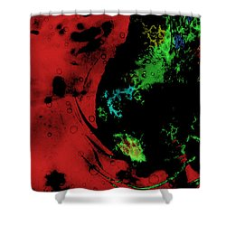 Shower Curtain featuring the mixed media Modern Squid by Ally  White