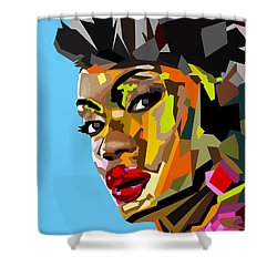 Shower Curtain featuring the digital art Modern Woman by Anthony Mwangi