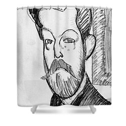 Modigliani - Paul Alexander Shower Curtain by Granger