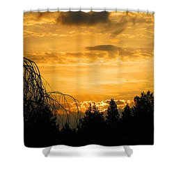 Modoc Sunrise Shower Curtain
