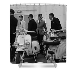 Mods And Suits Shower Curtain
