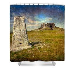 Moel Famau Shower Curtain by Adrian Evans