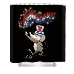 Moe's Happy 4th Of July Night Celebration Shower Curtain