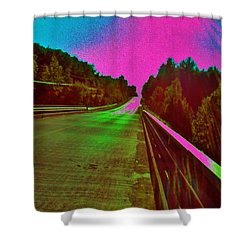 Shower Curtain featuring the photograph Moffit Bridge And Maple Ridge Rd. by Daniel Thompson