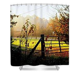 Shower Curtain featuring the photograph Moffit Bridge  by Daniel Thompson