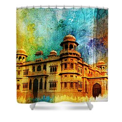Mohatta Palace Shower Curtain by Catf