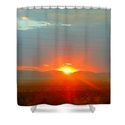 Mohave Sunset In Golden Valley Shower Curtain