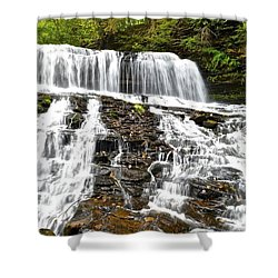 Mohawk Falls Shower Curtain by Frozen in Time Fine Art Photography