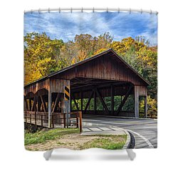 Mohican Covered Bridge Shower Curtain