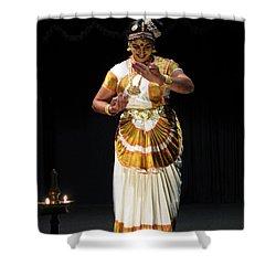 Shower Curtain featuring the photograph Mohiniyattam by Mini Arora
