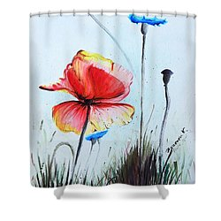 Mohnwiese Shower Curtain by Katharina Filus