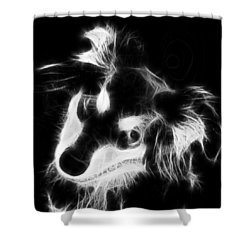 Moja - Black And White Shower Curtain by Marlene Watson
