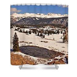 Molas Pass Winter Shower Curtain
