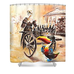 Molly Malone Shower Curtain by Miki De Goodaboom