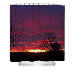 Molten Sunrise Shower Curtain