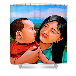 Mom And Babe Shower Curtain