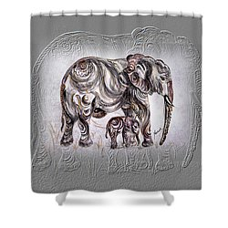 Mom Elephant Shower Curtain by Harsh Malik