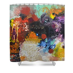 Moment Of Connection Shower Curtain by Sally Trace