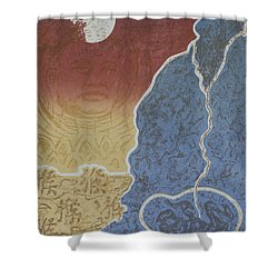 Moment Of Meditation Shower Curtain by Ousama Lazkani