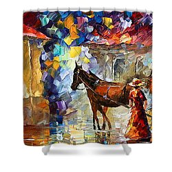 Momentary Stop Shower Curtain by Leonid Afremov