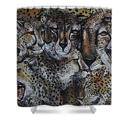 Momentum Shower Curtain by Laneea Tolley