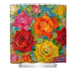 Mon Amour La Rose Shower Curtain by Mona Edulesco