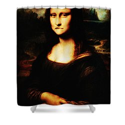 Mona Lisa Take One Shower Curtain by Bill Cannon