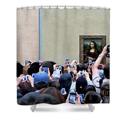 Mona Mobbed Shower Curtain by Jennie Breeze