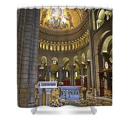 Shower Curtain featuring the photograph Monaco Cathedral by Allen Sheffield