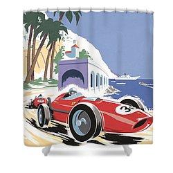 Monaco Grand Prix 1958 Shower Curtain