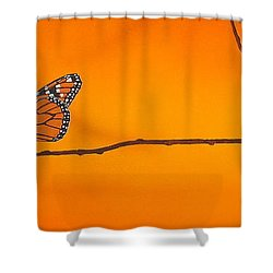 Monarch Shower Curtain