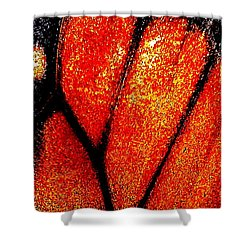 Monarch Wing Shower Curtain