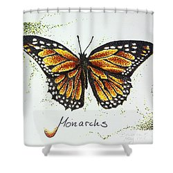 Monarchs - Butterfly Shower Curtain by Katharina Filus