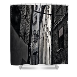 Monday Monday Shower Curtain by Joan Carroll
