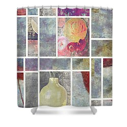 Mondrianity - 08a Shower Curtain by Variance Collections