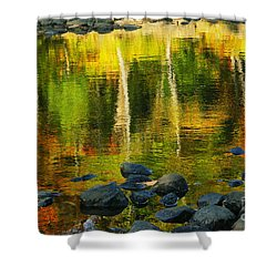 Monet Autumnal 02 Shower Curtain by Aimelle