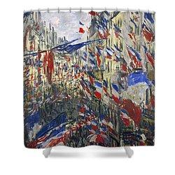 Monet: Montorgeuil, 1878 Shower Curtain by Granger