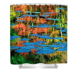 Monet Reflection Shower Curtain by Inge Johnsson
