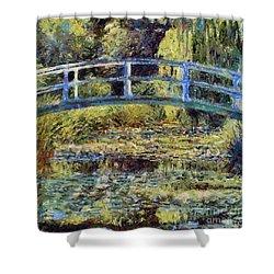 Monet's Bridge Shower Curtain