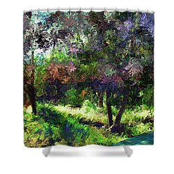 Monet's Garden Shower Curtain by Terence Morrissey