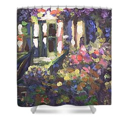 Monet's Home In Giverny Shower Curtain by Donna Tuten