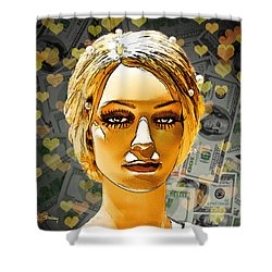 Money Love Shower Curtain by Chuck Staley