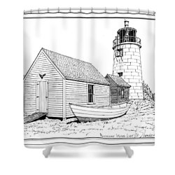 Monhegan Island Light Shower Curtain by Ira Shander