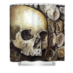 Monk Relic Shower Curtain by Elaine Booth-Kallweit