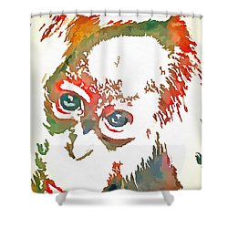 Monkey Pop Art Shower Curtain by Catherine Lott