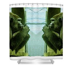 Monkey See Monkey Do Shower Curtain