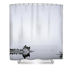 Still Waters Run Deep Shower Curtain by Shaun Higson