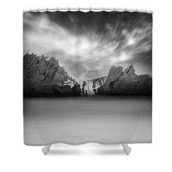 Monochrome Days Shower Curtain by Taylan Apukovska