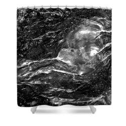 Monochrome Sea Shower Curtain by  Onyonet  Photo Studios