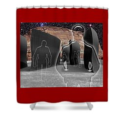 Monoliths For The Empty People Shower Curtain by Keith Dillon
